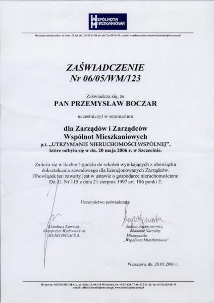 szkolenie utrzymanie nieruchomosci wspolnej Przemysław Boczar